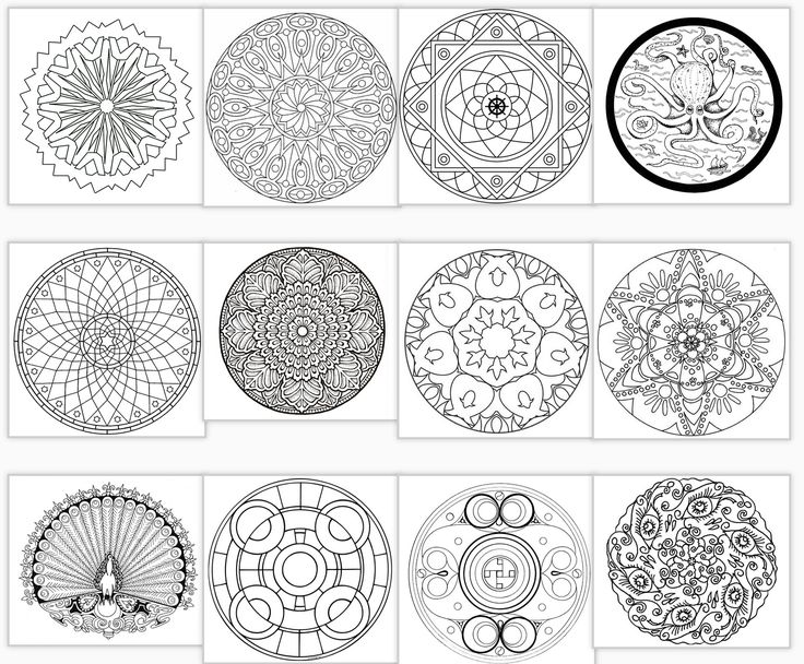 71 Best Mandala Coloring Images On Pinterest