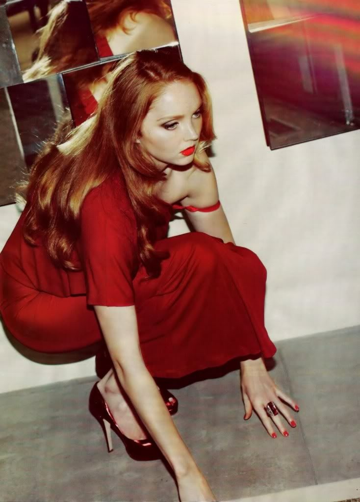 Lily Cole. Photo: Guy Aroch for Harper's Bazaar, October 2009.