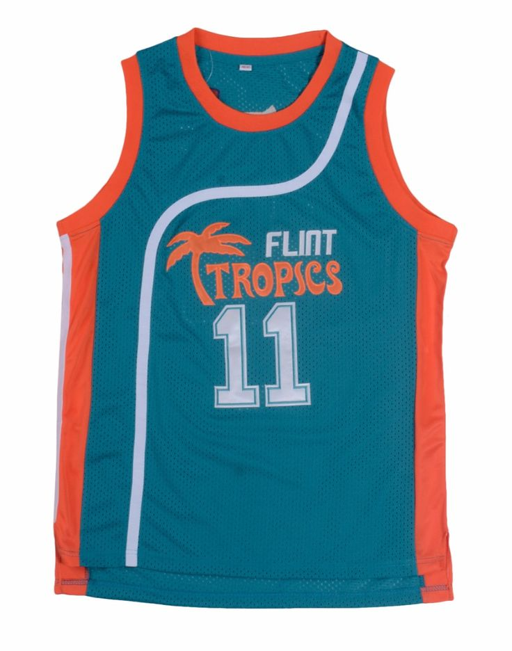 Meilunna 11# Green White Jackie Moon Flint Tropical Throwback Basketball Movie Jersey Shirt Stitched Jerseys #Affiliate