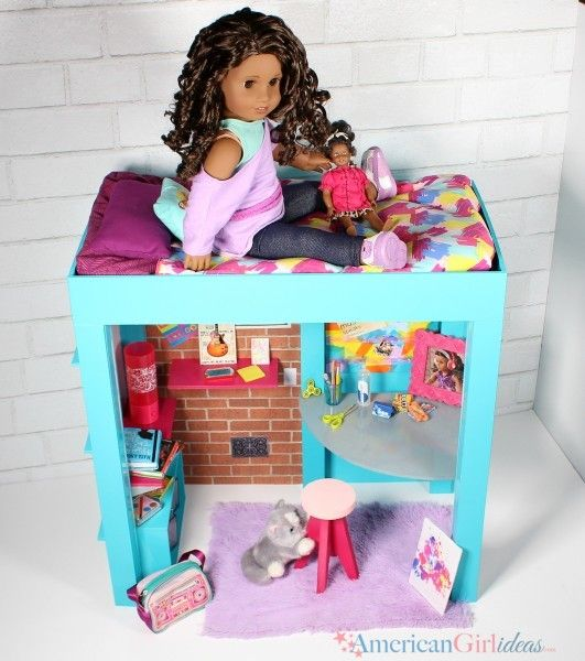 17 best images about ag doll furniture mobilier pour for American girl crafts diy