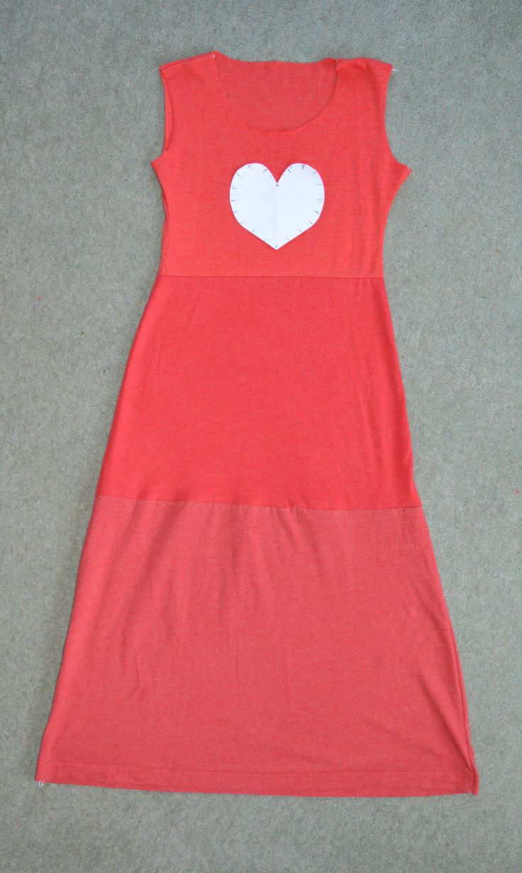 DIY Maxi Sundress for Little Girls out of Tshirts - step by step Photo tutorial - Bildanleitung