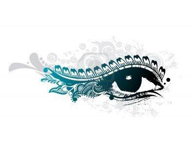 Abstract Grunge Design der schönen menschliches Auge, illustration Stockfoto - 7133103