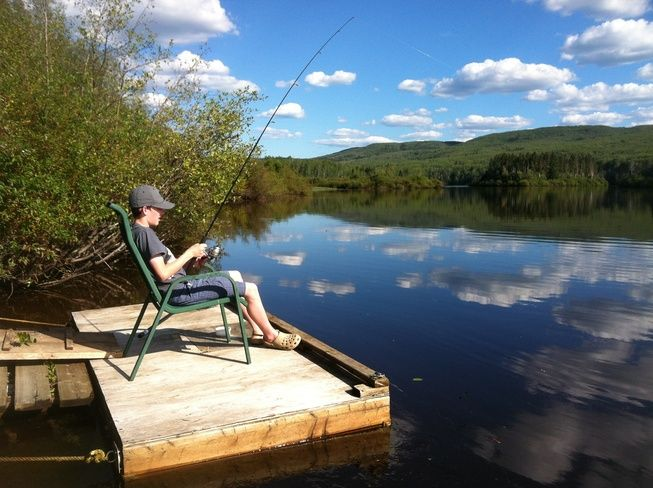 Fort McMurray, Alberta Canada Date shot: August 10, 2013 fishing on the Clearwater River