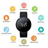 Fitness Tracker Heart Rate Blood Pressure RIVERSONG Sleep Monitor Smart Bracelet with Step Calorie Counter Pedometer Activity Fitness Watch Sport Smart Wristband for iPhone Android Smart Phones - https://www.trolleytrends.com/?p=649315