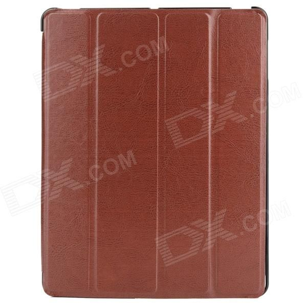 Brand: N/A; Quantity: 1 Piece; Color: Brown; Material: PU Leather; Compatible Models: Ipad 4 / 3; Auto Wake-up / Sleep: YES; Other Features: Fine design and workmanship; the cover can be folded to form a stand for the case; Easy to install and remove; Packing List: 1 x Case; http://j.mp/1oTLHf8