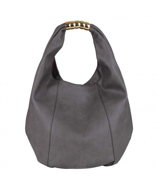 0c4b50571a91 Women's Bags, Hobo Bags,Eva&Evan Women Top Handle Bag PU Leather Shoulder  bag large capacity - Dark Grey - CQ187K73SWW #BAGS #Handbags #women #style  ...