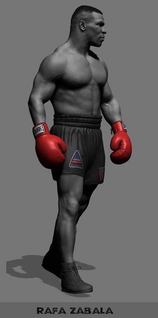 ArtStation - Mike Tyson, Rafa Zabala