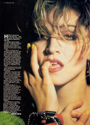 Madonna Interview : Record Mirror (March 24 1984) | all about Madonna