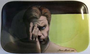 """Saatchi+Art+Artist+Sanna+Huusko;+Painting,+""""Ewan""""+#art"""