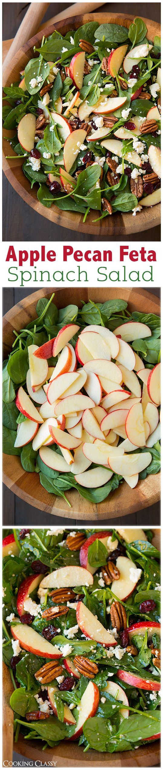 Apple Pecan Feta Salad * *