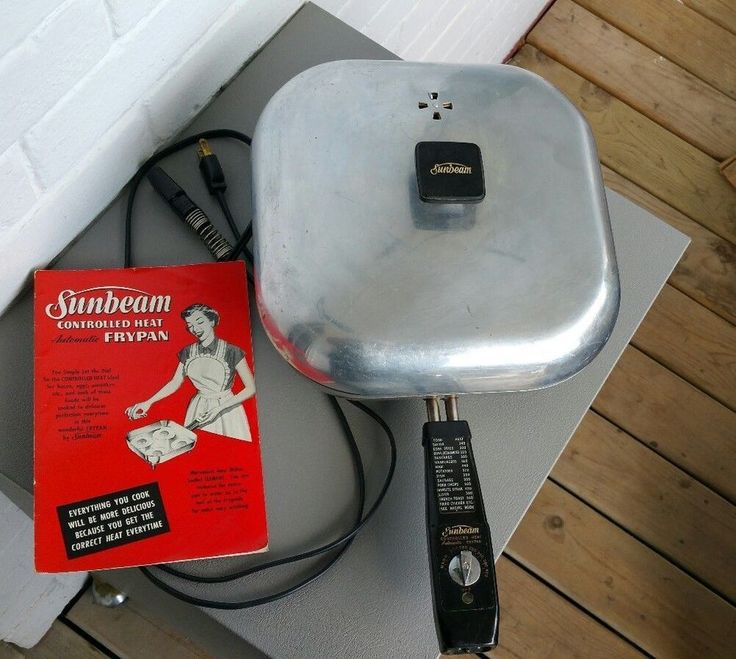 Sunbeam Electric Skillet-Vintage 1950s w/ Manual and Cord