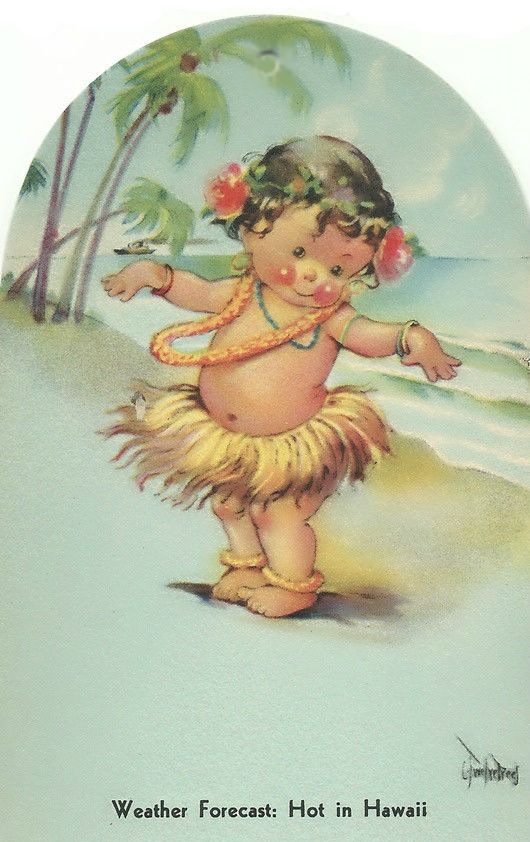 1988 Hawaii Keikis Postcard Hawaii Children Postcard