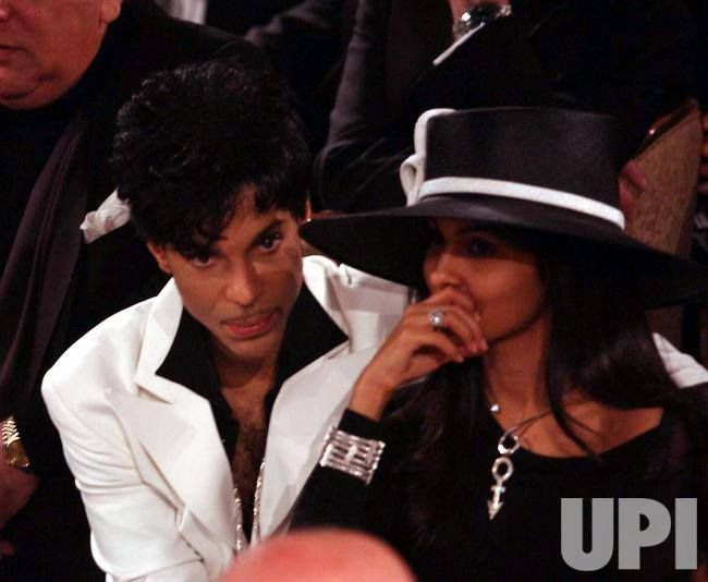 Prince and second wife Manuela Testolini at the 2004 Rock and Rock Hall of Fame Induction Ceremony