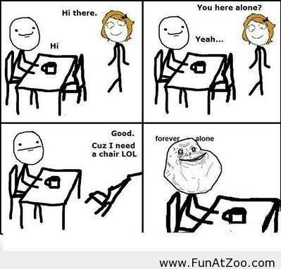 Forever alone meme Funny picture