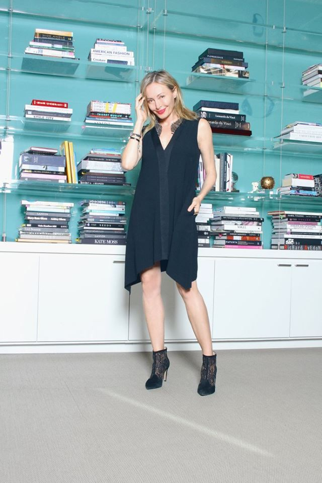 """Friday, January 15 """"Make and entrance in this effortless yet stylish dress, perfect for the award show circuit,"""" -Lubov Azria Get Lubov's look: http://bit.ly/1lg6Z6g"""