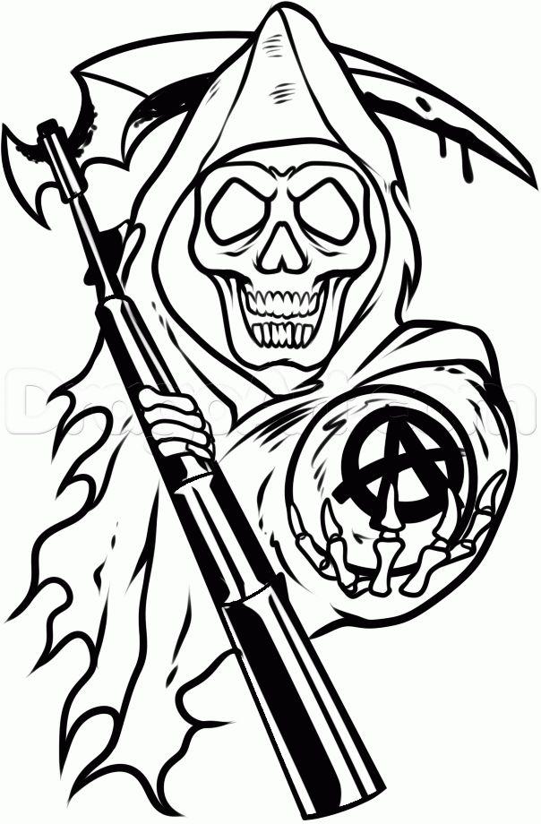 Sons Of Anarchy Logo Stencil Traffic Club