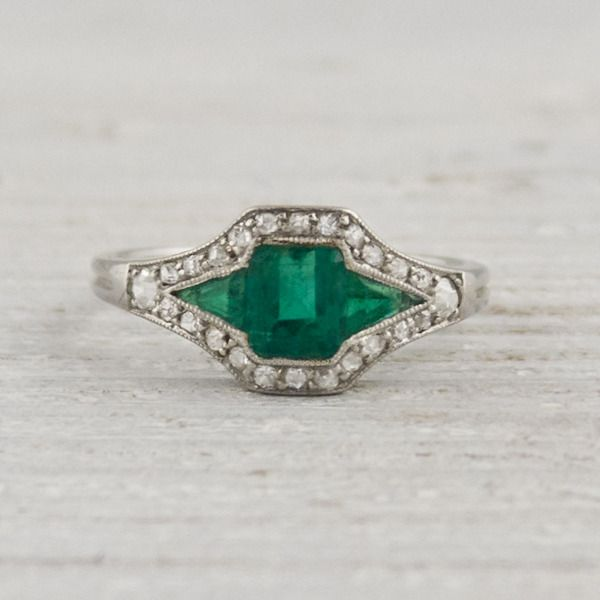 Best 25 Emerald ring vintage ideas on Pinterest Emerald