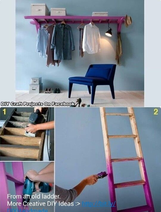 Ladder clothes hanger