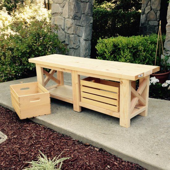 25 best ideas about crate bench on pinterest diy shoe for Wood crate bench