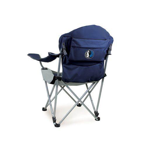 Dallas Mavericks Reclining Camp Chair w/Digital Print - Navy