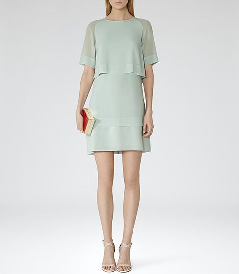 for warms summer nights out with tan shoes, trench if needed and pale green bag