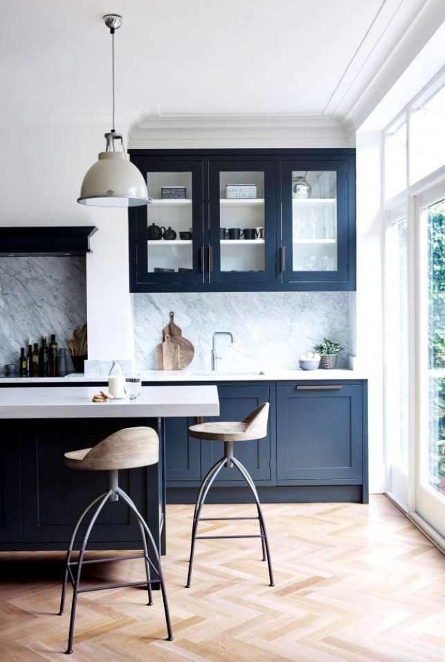 Navy Blue Walls The Best Shades Of And Where To Use Them Kitchenisland Kitchen Island In 2019 Home Decor