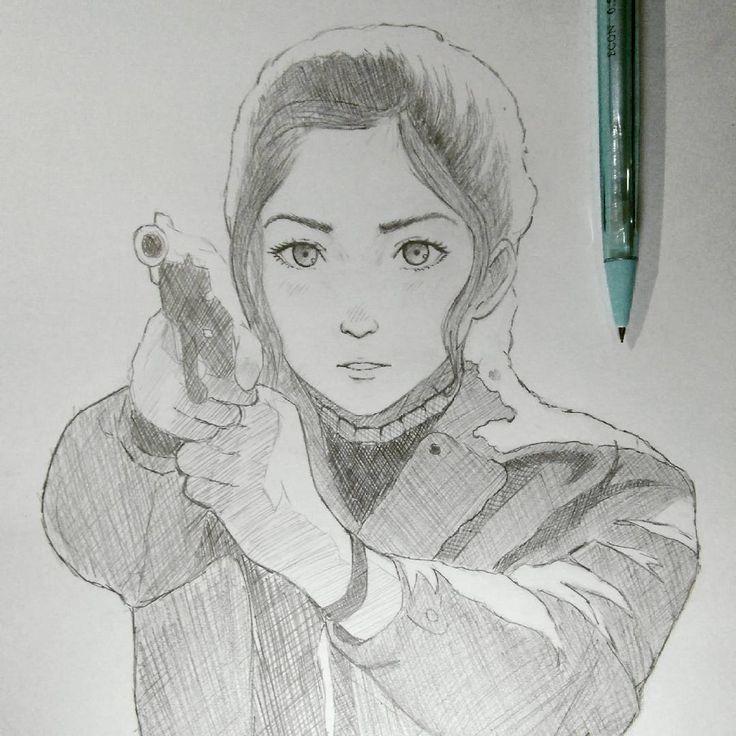 Please follow me on instagram. 😢 I tried ilya kuvshinov pencil style here @lxsndrart