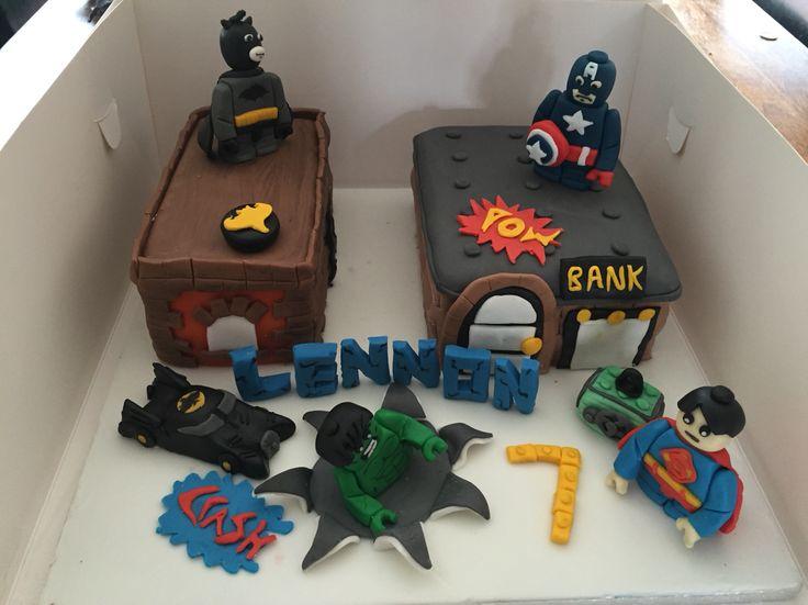 Lego marvel theme cake