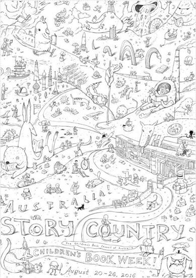 Buy CBCA Book Week Colouring In Poster 2016 online
