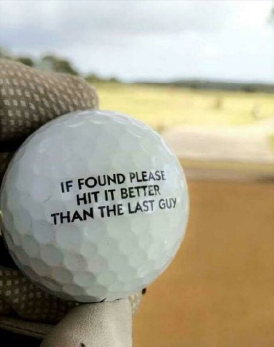 Funny golf humor for today! :D