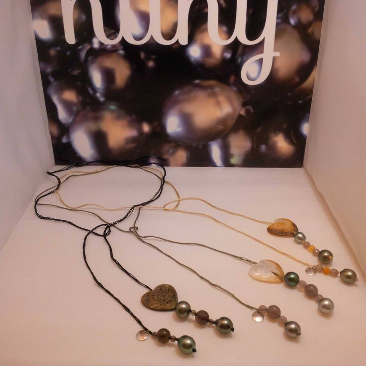 Nathalie's necklaces...Tahitian pearls