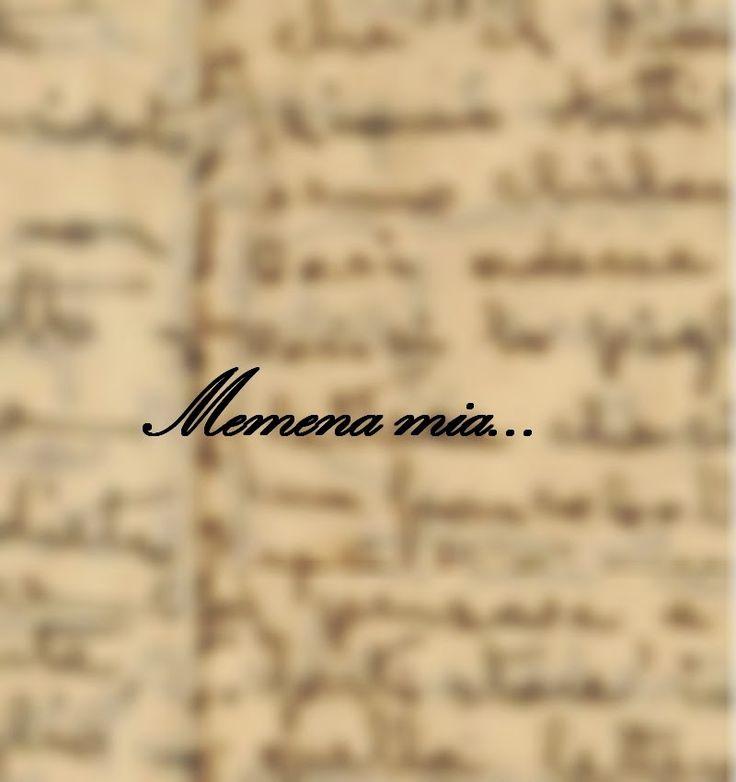 """Queste pagine: Lettere a Memena, da """"Nero di memoria"""""""