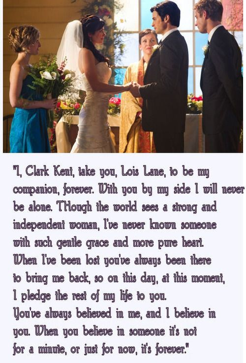 Clark's vows to Lois- Smallville This hit me hard. It was coming to an end.
