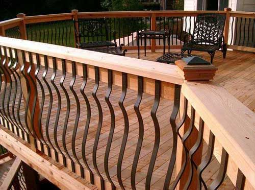 Baroque Deck Balusters - we always get compliments on these.  Much prettier than the usual wooden patterns.