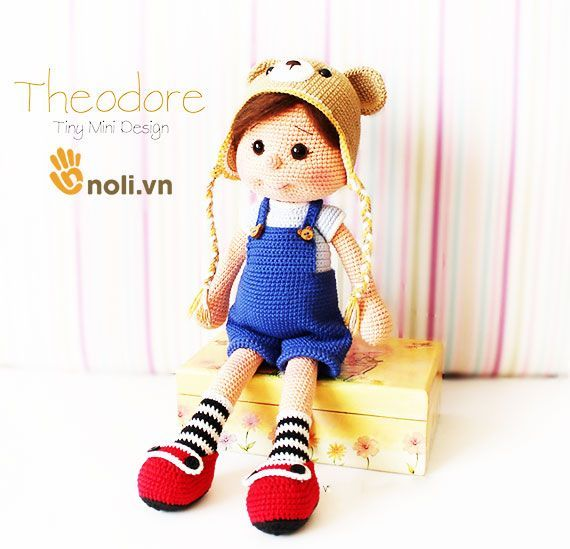 noli.vn | Hướng dẫn móc búp bê gấu Theodore Doll cực kì dễ thương