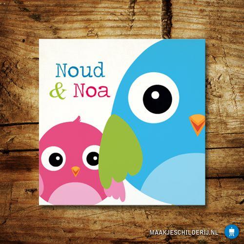 Leuk schilderijtje voor in de speelkamer!  Ontwerp het zelf op www.maakjeschilderij.nl