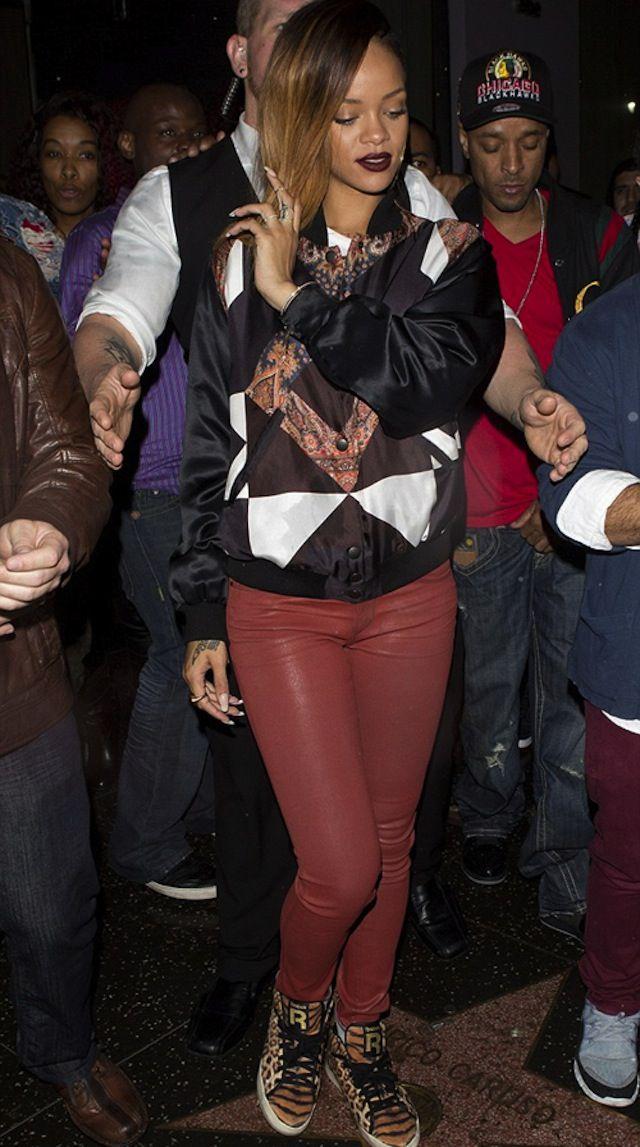 Rihanna wearing Reebok Classic T-Raww