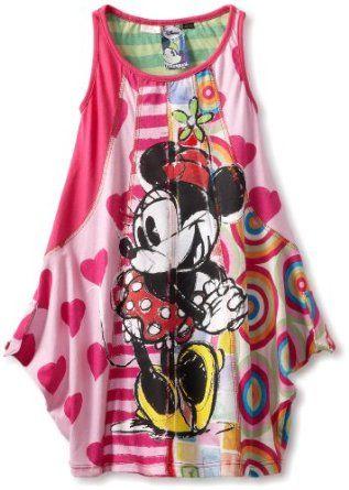 Desigual Girls 2-6X Minnie Sketch Party Dress:Price: $74.00