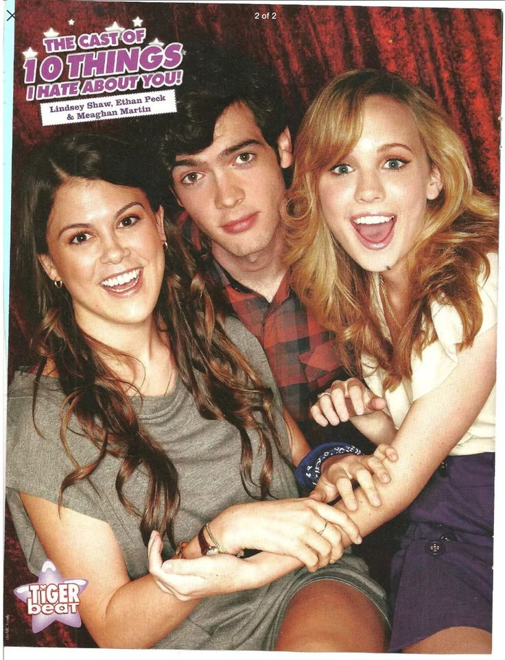 Lindsey Shaw, Ethan Peck, and Meaghan Martin (Tiger Beat)