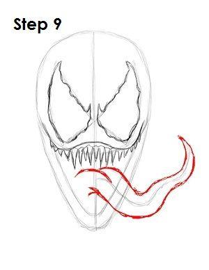 How To Draw Venom Step 9 Artworks In 2019 How To Draw Venom