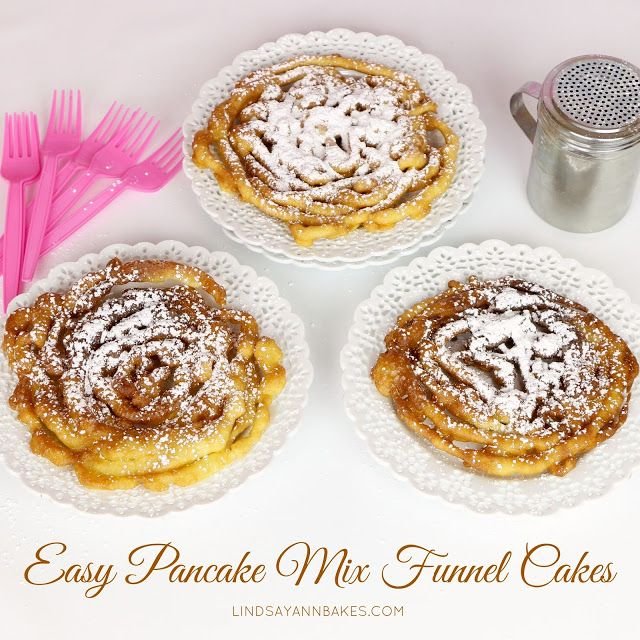 {VIDEO} Easy Pancake Mix Funnel Cakes