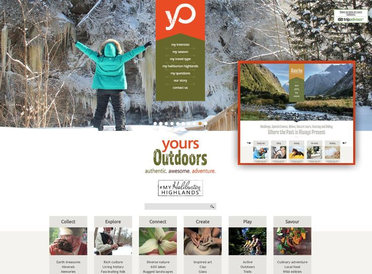 The launch of this new website for Yours Outdoors coincided with the business owner, my client Barrie Martin, winning the Tourism Champion of the Year Award from the Tourism Industry Association of Ontario. Yours Outdoors offers a variety of adventures to experience all the Haliburton Highlands has to offer. Visit yoursoutdoors.ca and find an experience that suits your interests!  Inset shows the original Drupal theme, which was highly customized to meet the needs of my client.