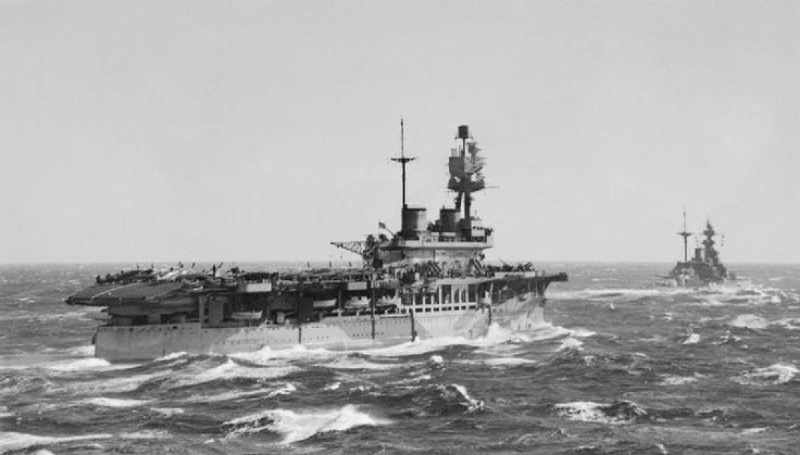 HMS Malaya and HMS Eagle (carrier).