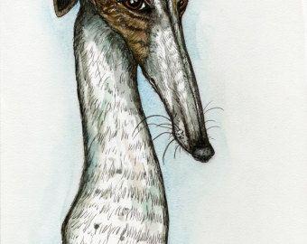 Ein bißchen Hoffnung Greyhound Kunst Dog Print von AlmostAnAngel66