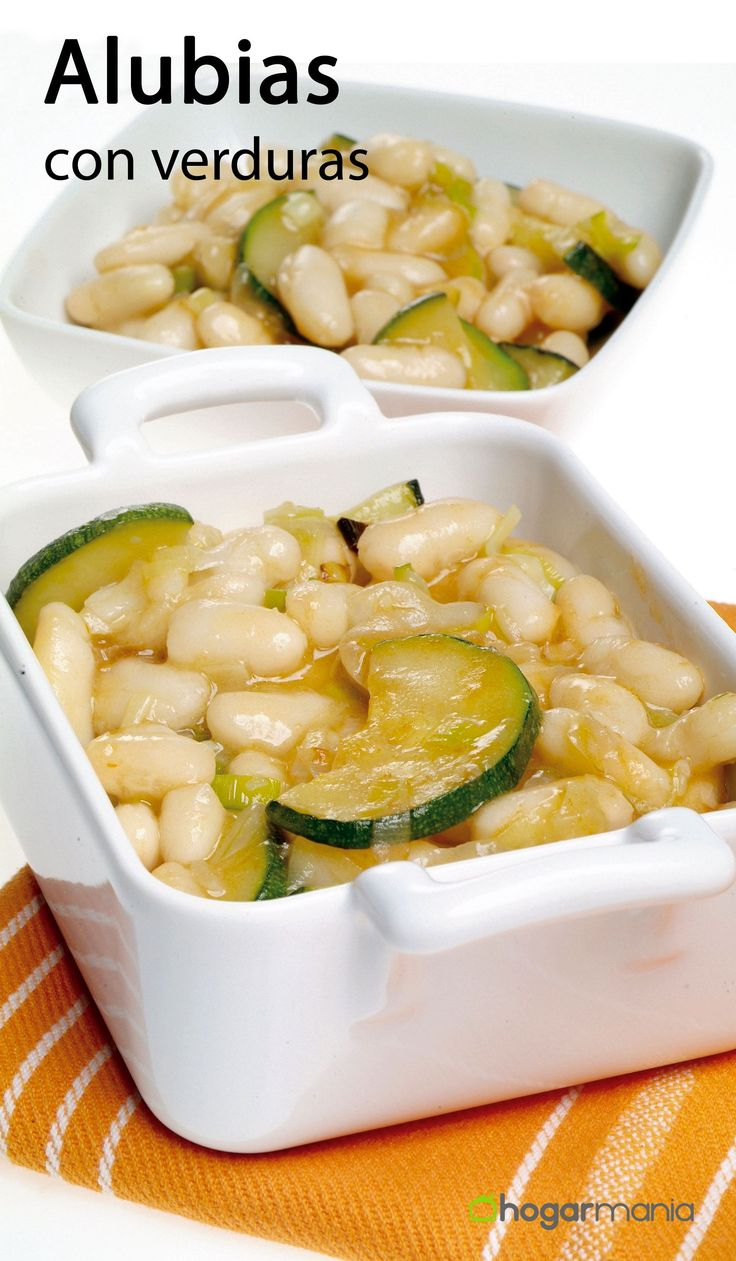Receta alubias verduras #cocina #recetas #alubias