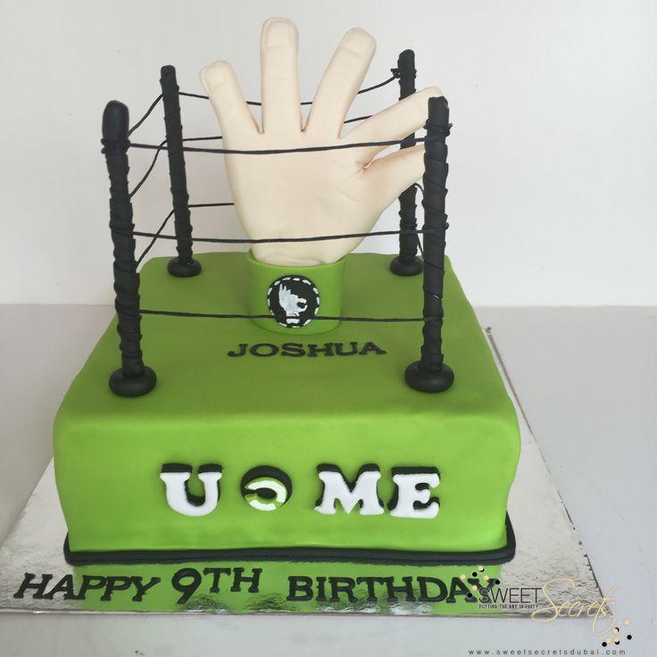 WWF Cake, Novelty Cakes Dubai www.sweetsecretsdubai.com