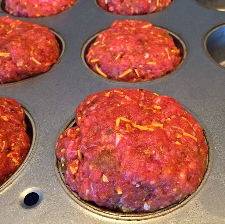 Meatloaf Mexi-Muffins  Each Meatloaf Mexi-Muffin = 1 red and 1 blue container.)