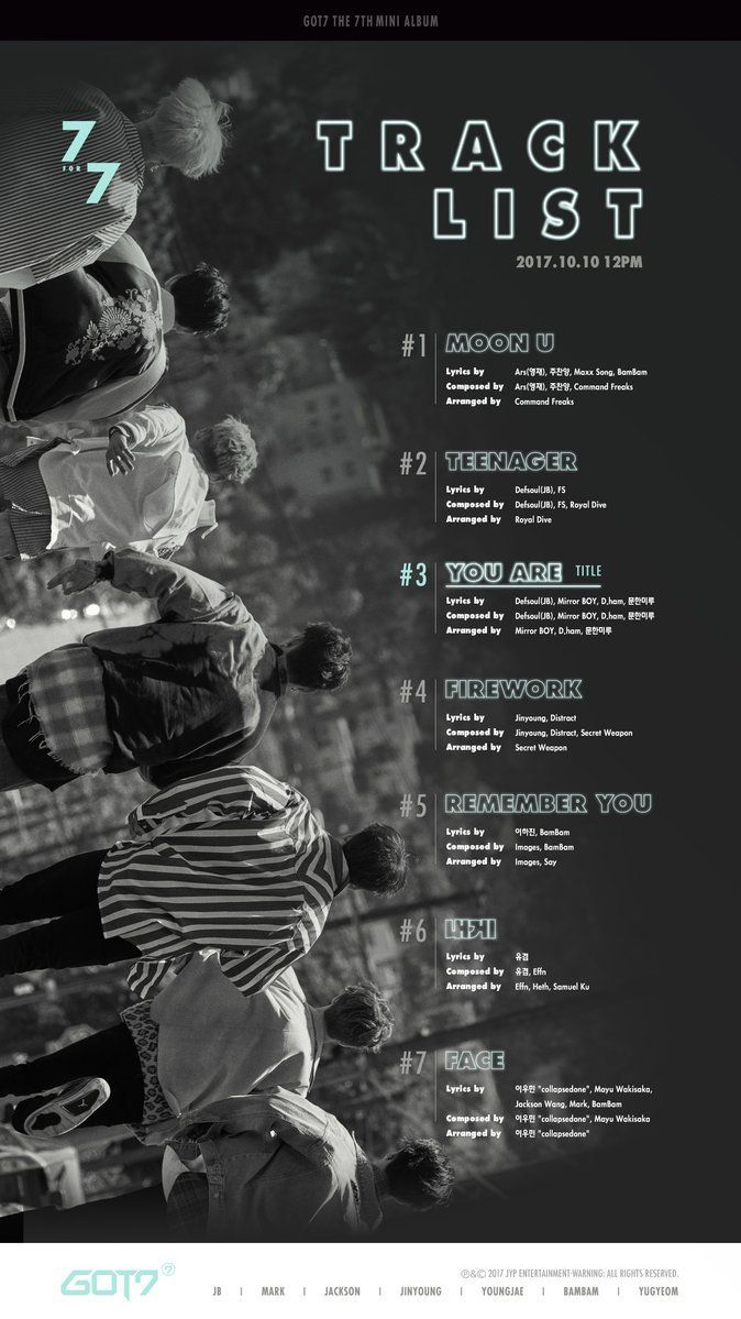 TRACK LIST #1 MOON U Lyrics: Ars, Joo Chanyang, Maxx Song, Bambam Composed: Ars, Joo Chanyang, Command Freaks #2 TEENAGER Lyrics: Defsoul, FS Composed: Defsoul, FS, Royal Dive #3 YOU ARE...