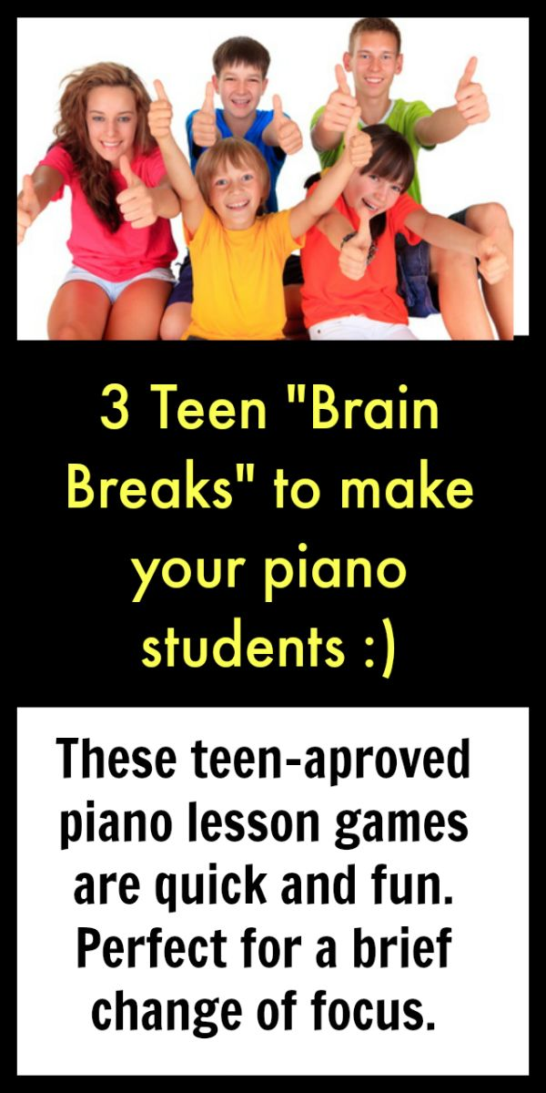 Do you ever feel as though you pull out all the stops for your young piano students, but when your teenage kids hit the bench the magic disappears? Include your teens in the fun with these 3 activities.