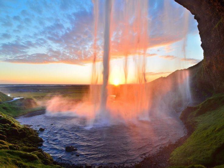 jezero obrázky, vodopád tapety, západ slunce vektor, letní pozadí, tráva materiál